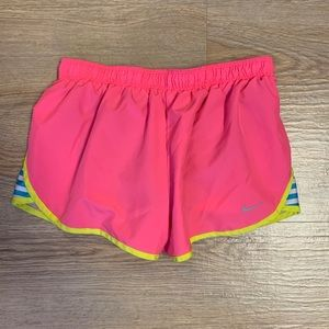 Nike Dry-Fit Hot Pink Striped Running Shorts